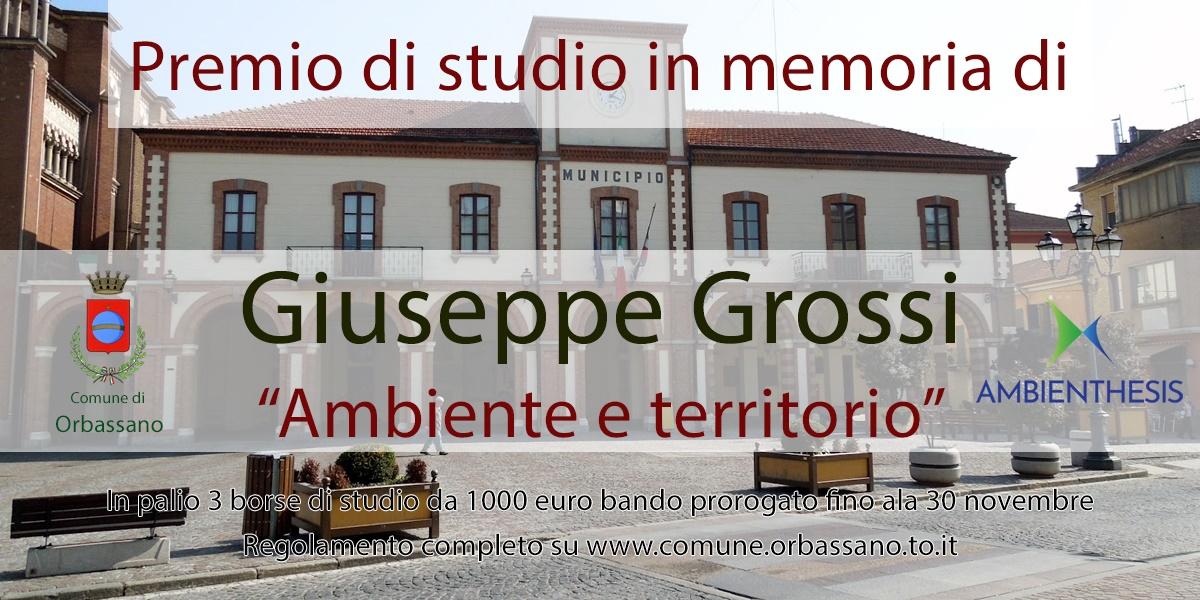 """Simona Grossi - Seconda edizione del premio di studi """"Ambiente e Territorio"""""""